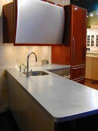 l shaped zinc countertop