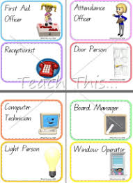 Printable Classroom Job Charts Pictures Free Printable