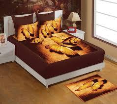 digital velvet bed with erfly print sheet