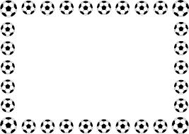 フリーイラスト サッカーボールの囲みフレームでアハ体験 Gahag