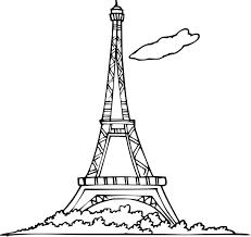 Coloriage Tour Eiffel Imprimer Dessin La Tour Eiffel A Imprimer