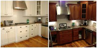 Inside Kitchen Cabinet Kitchen Cabinet Painting Before And After Home And Art