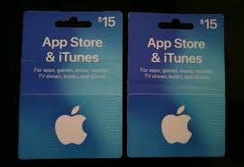 lot of 2 15 00 itunes gift cards a 30 00 value