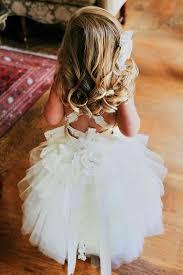 flower girl dress lace tutu style soft ivory