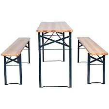 beer garden furniture. Unique Furniture 3 PCS Beer Table Bench Set Folding Wooden Top Picnic Patio Garden To Furniture Y
