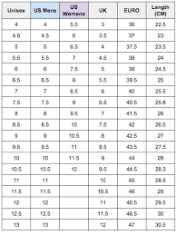Onitsuka Tiger Size Chart Uk 37 Rare Asics Shoe Size Chart Australia
