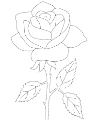 Free Printable Rose Coloring Pages Free Printable Rose Coloring
