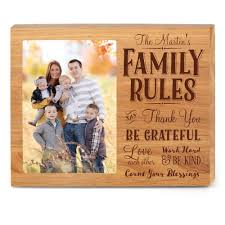rustic wood picture frames. Family Rules Wood Frame Rustic Picture Frames