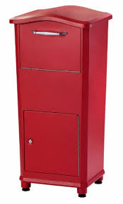 parcel drop box. Plain Box Elephantrunk Parcel Drop Box Red Throughout