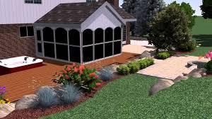 Rochester Landscape Design Rochester Hills Michigan Backyard Landscape Design Youtube