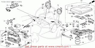 honda accord 1987 h 4dr dx ka fuse box relay horn schematic fuse box relay horn schematic