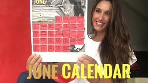 My First Monthly Workout Calendar | June Calendar Susana Yábar