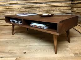 Tapered Coffee Table Legs Walnut Coffee Table Etsy