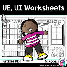 Included in your teacher account is access to 220 free phonics worksheets to use as a whole class. Vowel Pairs Ue Ui Worksheets And Activities For Early Readers Phoni Starlight Treasures Resources