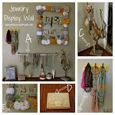 Jewelry Display Wall. It took a while to figure out what I needed and how  it would all work together but little by little I figured it out and I am  really ...