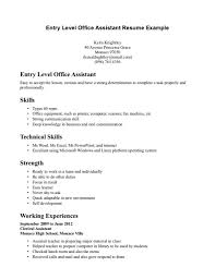 Resume For Medical Assistant With No Experience Entry Level Medical