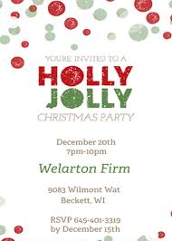 office party flyer invitation to a company christmas party fun for christmas