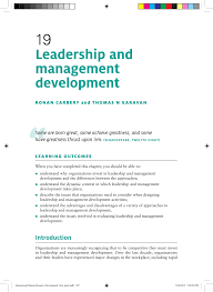 Pdf Leadership And Management Development