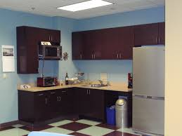 excellent office break room ideas and creativity design with brown oak wooden kitchen cabinet along cream astounding office break room ideas