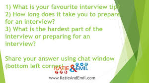 Interview Tip 1 What Is Your Favourite Interview Tip Ppt Download