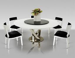 contemporary round dining table set