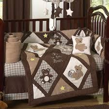 newest chocolate teddy bears baby shower theme cutee another idea bear crib set