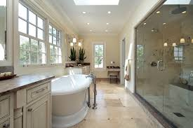 country bathroom shower ideas. country inspired bathroom design with pedestal tub and large rainfall shower ideas