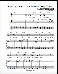 sheet music silent night silent night come thou fount sheet music new fallen snow