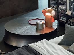 low round coffee table for living room soori by poliform