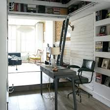 Small corner wood home office Feng Shui Home Office Solutions For Small Spaces Home Office In Corner With Black Desk And Statement Home Office Solutions For Small Spaces Home Office In Corner With