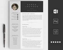 Creative resume template for Word - Instant download CV template - Design  with cover letter,
