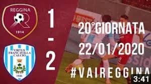 Serie C : Reggina - Virtus Francavilla 1-2, il servizio ...