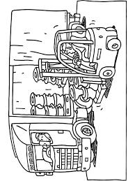 Kleurplaat Vrachtwagen Transport Laden Lossen Kleurplatennl