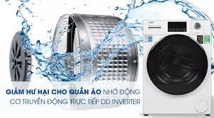 TRẢ GÓP 0% - Máy giặt Aqua Inverter 9 kg AQD-D900F W Mới 2020