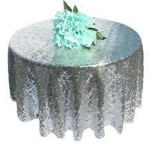 48 inch tablecloth round sequin table cloth rose gold champagne silver wedding beautiful overlay cover decor