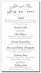 Wedding Dinner Menu Template Getpicks Co
