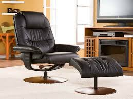 ... Large Size Most Comfortable Recliner With Comfy And Adjustable Design  Plus Ottoman Together Wooden Tv Stand ...