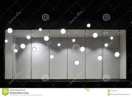 Used Lighting Store Empty Store Display Window With Led Light Bulbs Led Lamp