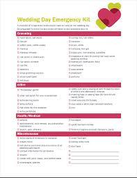 Checklist For Wedding Day Wedding Day Checklist