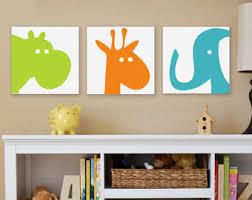 animal head canvas wall art kids at nursery room items similar safari elephant giraffe hippo pig on childrens canvas wall art with wall art designs awesome decoration canvas wall art kids perfect