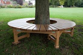 build a bench around a tree tree seat for war memorial park in round tree bench