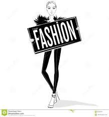 Fashion Girl Illustration Stock Illustration Illustration Of