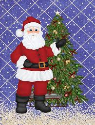 Carolines Treasures Santa Claus And Christmas Tree House Vertical
