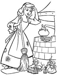 Small Picture Cinderella Cleaning Coloring Pages Coloring Pages