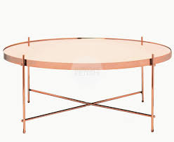 coffee table rose gold