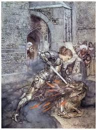 how sir lancelot fought with a friendly dragon is featured in the romance of king arthur and his knights of the round table hopefully you survived reading