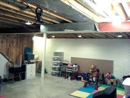 unfinished basement lighting.  Unfinished Marvellous Unfinished  Intended Unfinished Basement Lighting T