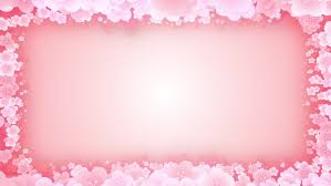 plum blossoms frame cg animation pink background