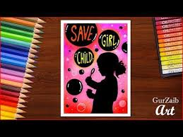 Chart On Female Foeticide How To Draw Save Girl Child Poster Chart Drawing For School