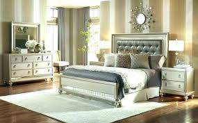 Silver Bed Frame Queen Silver Queen Upholstered Bed ...